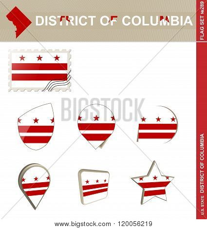 District Of Columbia Flag Set, Flag Set #289