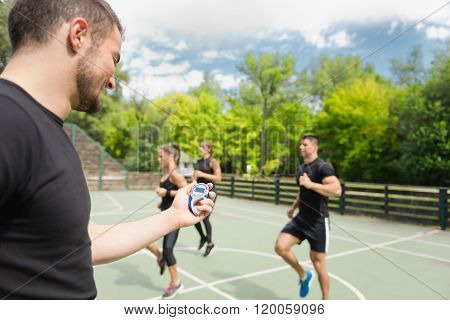Sports Trainer With Stopwatch