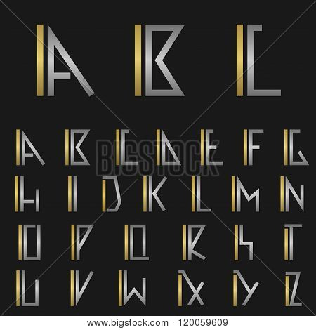 Letter I with alphabet