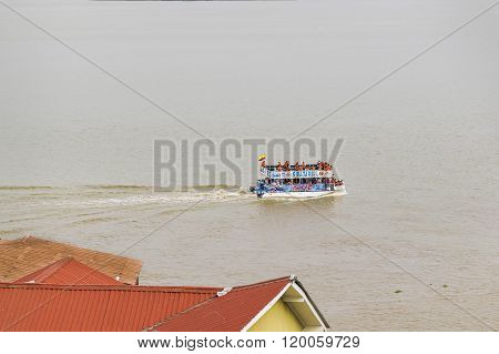Touristic Boat At Guayas River In Guayaquil Ecuador