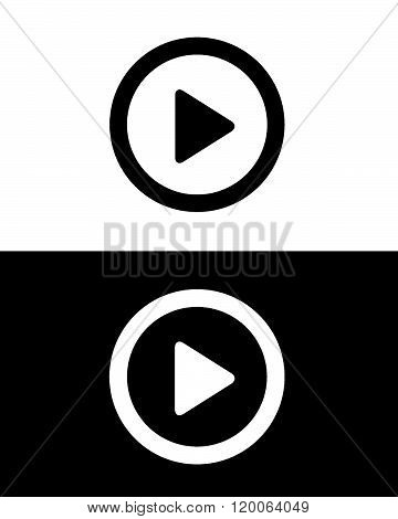 Vector Play Button Icon