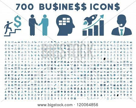 700 Flat Vector Business Icons