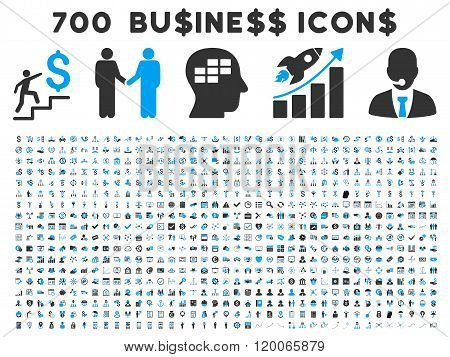 700 Flat Glyph Business Icons