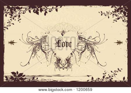 Vintage Valentines Background