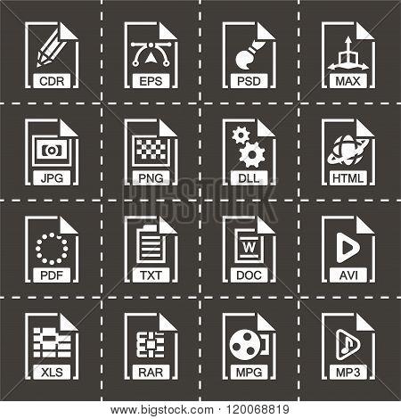 Vector File type icon set