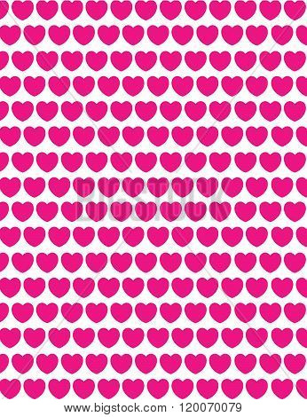 Vector Valentines Day repeating heart pattern and wall paper