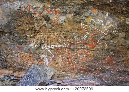Aboriginal rock art at Ubirr, Kakadu National Park, Northern Territory, Australia