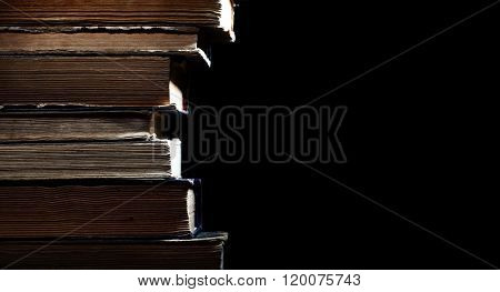 Ancient Library Of Rare Book Isolated