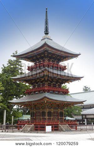 Japan. Pagoda at Narita Shinshoji temple .