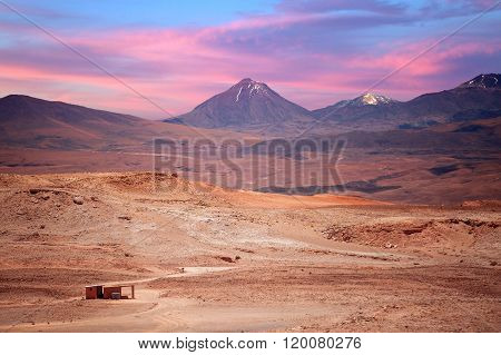 Volcano Licancabur Near San Pedro De Atacama