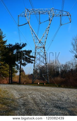 the electricity pylon