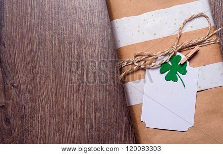gift box with shamrock