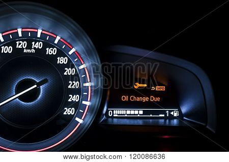 Car Speedometer With Information Display