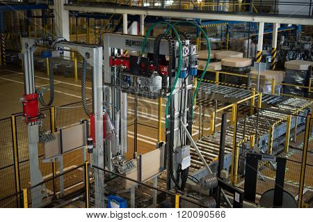 Top View To  The Production Lines Forof Beer.  Beer Production Plant