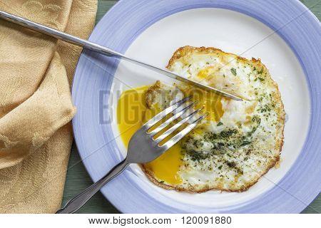 Fried Runny Egg Over Easy