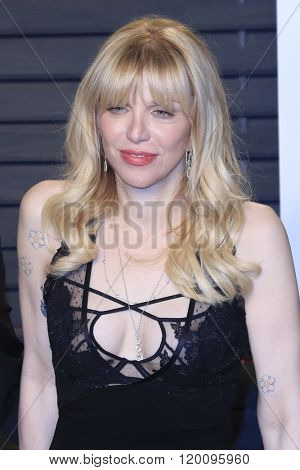 BEVERLY HILLS - FEB 28: Courtney Love at the 2016 Vanity Fair Oscar Party on February 28, 2016 in Beverly Hills, California