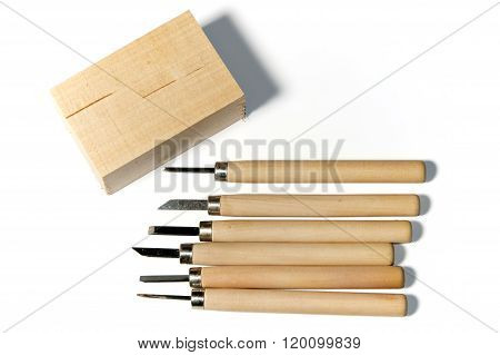 Wood Carving Tools With Basswood