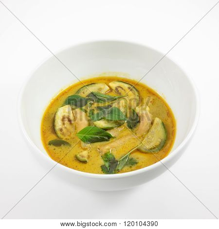 The delicious homemade Thai green curry with pork (Gang Keaw Wan)