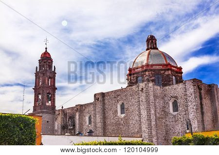 Iglesia De Nuestra Senora De La Salud Church Sun San Miguel De Allende Mexico
