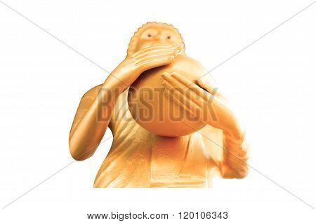 Stand Golden Buddha Statue