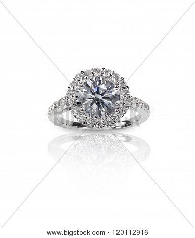 Beautiful Diamond Engagemnt Solitair Wedding band Ring