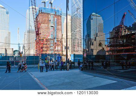 New York, U.S.A. - October 9, 2010: Manhattan, works in progress in Ground Zero area.