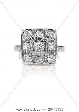 antique diamond art deco ring