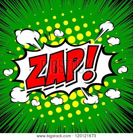 Zap! - Comic Speech Bubble, Cartoon