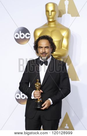 LOS ANGELES - FEB 28:  Alejandro Gonzalez Inarritu at the 88th Annual Academy Awards - Press Room at the Dolby Theater on February 28, 2016 in Los Angeles, CA