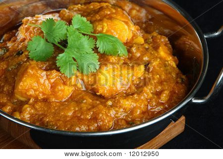 Indian chicken dansak curry