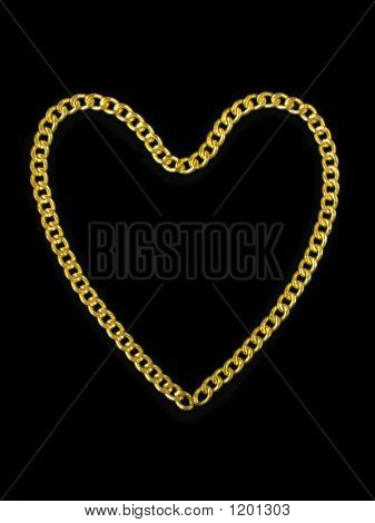 Golden Heart Shaped Chain