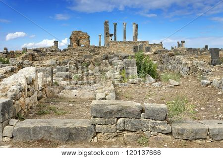 Roman Empire ruins of Volubilis, Morocco, Africa poster