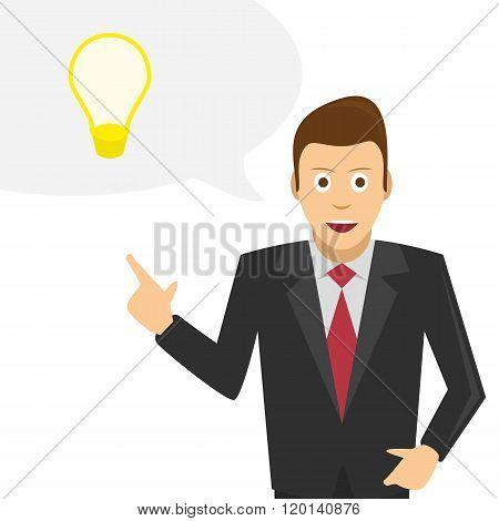 Businessman talks about his ideas.