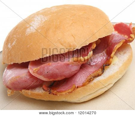 Crispy bacon roll.
