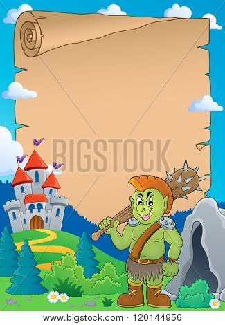 Orc theme parchment 1 - eps10 vector illustration.