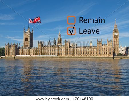 Brexit Referendum In Uk