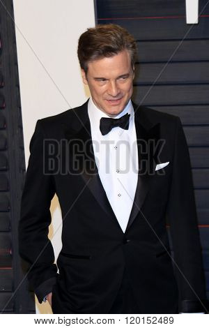 LOS ANGELES - FEB 28:  Colin Firth at the 2016 Vanity Fair Oscar Party at the Wallis Annenberg Center for the Performing Arts on February 28, 2016 in Beverly Hills, CA