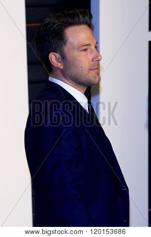 LOS ANGELES - FEB 28:  Ben Affleck at the 2016 Vanity Fair Oscar Party at the Wallis Annenberg Center for the Performing Arts on February 28, 2016 in Beverly Hills, CA