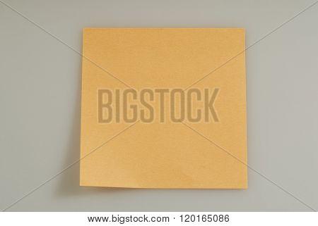 Orange Note Paper