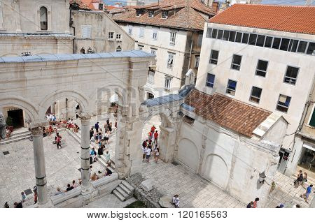 The Diocletian's Palace In Split, Croatia