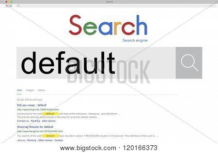 Default Interface Digital Internet Concept
