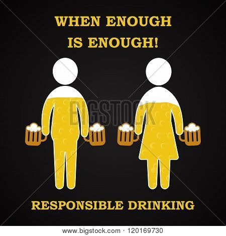 When enough is enough - responsible drinking template