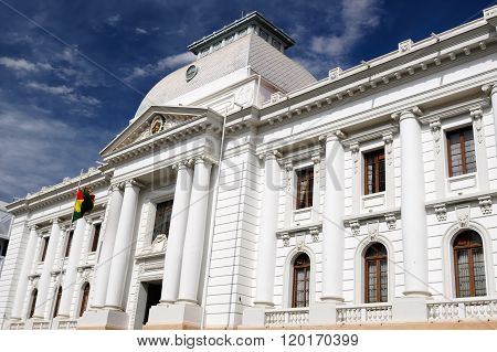 South America, White Colonial Building