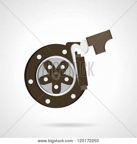 Braking systems flat color design vector icon