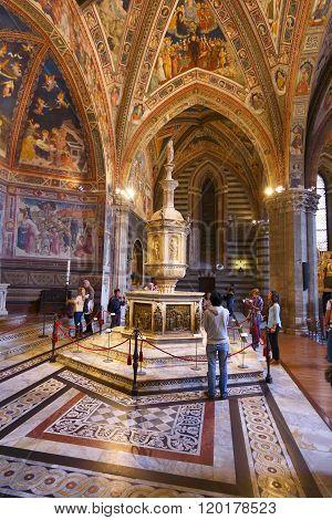 Baptistry In Siena, Italy