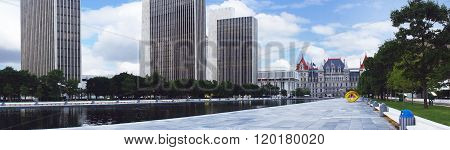 ALBANY, UNITED STATES - JUNE 12: New York State Capitol in Albany, New York state capital on 12th of June, 2015 in Albany.