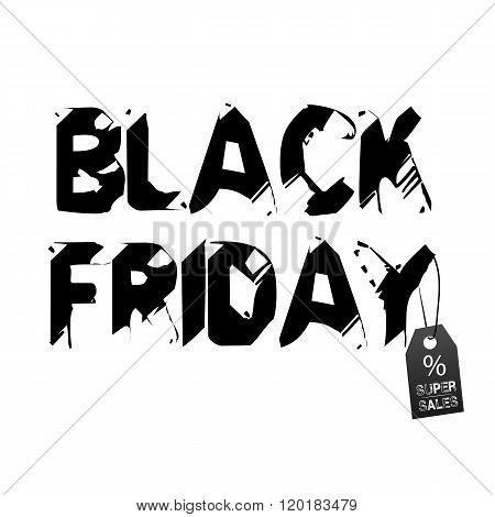 Black Friday super sale labels and background