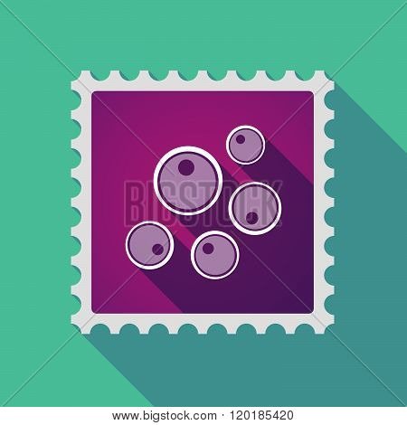 Long Shadow Mail Stamp Icon With Oocytes