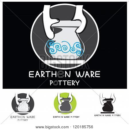 Earthen Ware Pottery Industry Logo Design
