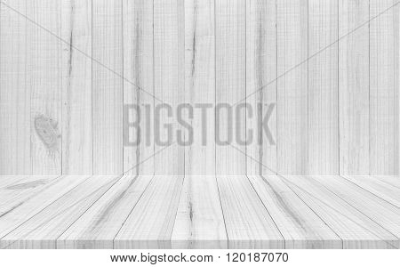 Empty Top View Of Wooden Table  On Wood Background, For Display Of Your Product.